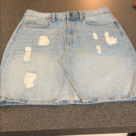 85ae03cde1 H&M Skirts   Hm Jean Skirt W Small Split In The Front Middle   Poshmark